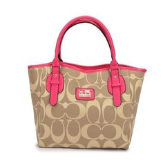 Coach Logo In Monogram Small Khaki Totes DCM Give You The Best feeling!