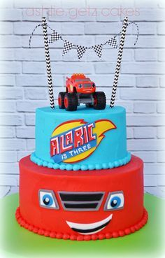 Blaze and the Monster Machines Cake by Ashlie.Getz.Cakes http://www.cakecentral.com/gallery/i/3368830/blaze-and-the-monster-machines
