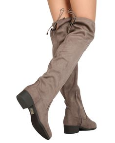 641db5e09d4d Details about New Women Soda Yah-S Faux Suede Over The Knee Drawstring  Riding Boot