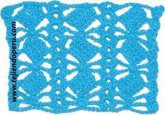 Cómo tejer el punto fantasía a crochet # 15: rombo de varetas