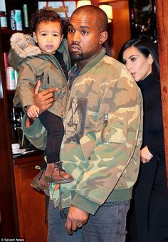 Kim Kardashian in family outing with Kanye West and daughter North | Daily Mail Online