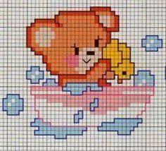 Imagini pentru grafico de ponto cruz para bebe