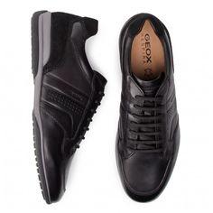 Κλειστά παπούτσια GEOX - U Timothy A U926TA 00043 C9999 Black - Καθημερινά - Κλειστά παπούτσια - Ανδρικά - epapoutsia.gr Men Dress, Dress Shoes, All Black Sneakers, Oxford Shoes, Lace Up, Drink, Food, Fashion, Moda