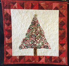 "Happy Holidays, 25 x 25"", by Barb Gardner.  A quilt to benefit the Rocky Mountain Quilt Museum."