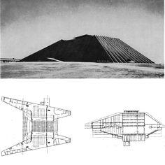 OSCAR NIEMEYER NATIONAL THEATER IN BRASILIA, 1960-65 …looks like a stealth bomber