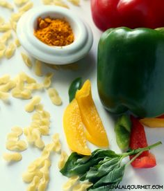 Petits Gourmets: Basil-Infused, Bell pepper & Turmeric Pasta