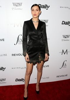 "Bella Hadid Photos - Model Bella Hadid attends the Daily Front Row ""Fashion Los Angeles Awards"" at Sunset Tower Hotel on March 2016 in West Hollywood, California. - The Daily Front Row 'Fashion Los Angeles Awards' 2016 - Arrivals Bella Hadid Photos, Bella Hadid Style, Star Fashion, Daily Fashion, Fashion News, Fashion Fashion, The Weeknd Gigi Hadid, Bella Hadid Red Carpet, Kylie Jenner"