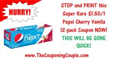 ***PRINT RIGHT NOW ~ NEW SUPER RARE PEPSI COUPON*** This $1.50/1 Pepsi Cherry Vanilla 12-pack coupon will not last long so PRINT NOW!  Click the Picture below to get a MOBILE FRIENDLY DIRECT LINK to the COUPON ► http://www.thecouponingcouple.com/pepsi-cherry-vanilla-12-pack-coupon/  Help us out and use the SHARE button below the Picture to SHARE this post with your Family and Friends!  #Coupons #Couponing #CouponCommunity  Visit us at http://www.thecouponingcouple.c