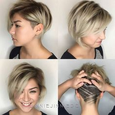 Layered Bob + Undercut ... by @jinniejinniedc Thanks Jinnie for tagging #behindthechair FIRST! :) #rootedblonde #shadowroot #girlswithundercuts #hairdresser