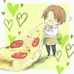 30 day anime challenge: day seven: Anime crush? If you know me, I have THOUSANDS of anime crushes but I'll just go with my top Hetalia one. Italy. He's just so cute and adorable and I WANNA CUDDLE HIM