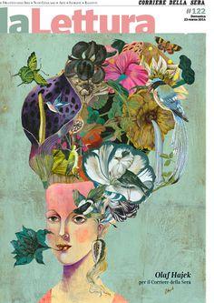 """Cover for """"La Lettura"""" from the """"Corriere della Sera"""" by Olaf Hajek."""