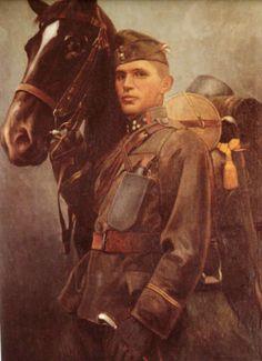 Magyar tüzér szakaszvezető a második világháborból. 1944-45.