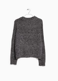 MANGO - Bouclé-knit wool-blend sweater #FW14