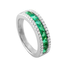 This beautiful Emerald and  Diamond Ring will be 50% OFF during our Luxury Jewelry Show August 28-29 at The Gem Collection.