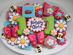 Ladybugs, Butterflies, Bees & Daisies Cookies