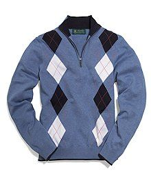 St Andrews Links collection, this half-zip sweater is made from pure Supima® cotton. Imported. Brooks Brothers is proud to be the official clothier of St Andrews Links.