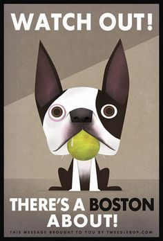 These are easily the cutest dogs around. This poster would look lovely in the homes of many of my friends.