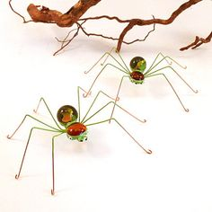 Another Thing or Things, that I could Make Myself.  Rather Cool too...Maybe as Pins.    Medium Spiders Autumn Colors Four. $32.00, via Etsy.