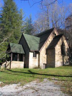 Pine Mountain Settlement School Chapel, Harlan, KY (1922-24) Designed by Mary Rockwell Hook. Constructed in the shape of a cross and built from one large sandstone boulder. Historic Holtkamp Pipe Organ installed in 1930's. Acoustics here are amazing.