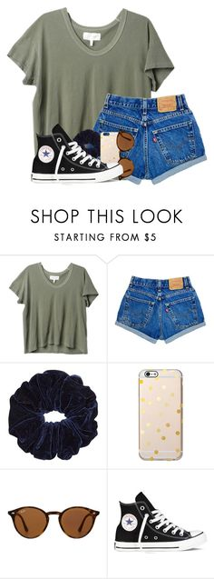 """HELP SHOULD I TAKE FRENCH OR SPANISH"" by madiweeksss ❤ liked on Polyvore featuring The Great, Ray-Ban and Converse"