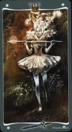 Queen of swords  Fairy Lights Tarot