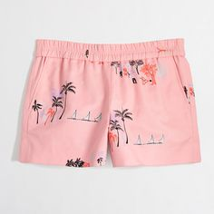 Factory printed pull-on short