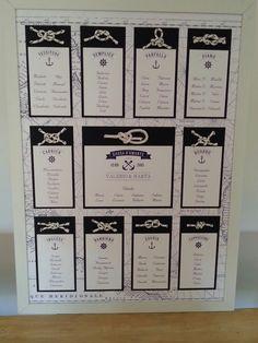 WE-PEVAR — Tableau de marriage nautical style. Tableau per...