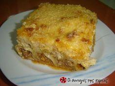 Κανελόνια με κιμά Greek Recipes, Lasagna, Food And Drink, Pasta, Greek Beauty, Cooking, Ethnic Recipes, Kitchens, Kitchen