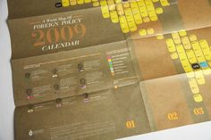 The Foreign Policy 2009 Calendar/Self Promo Kit by Foreign Policy , via Behance,