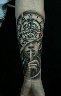 angesagte tattoos männer frau motiv uhr unterarm