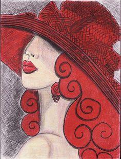 Lady in Red by Lynnie
