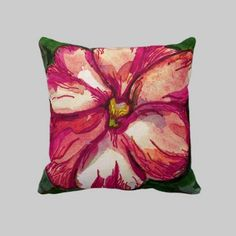 #Pink #Balsam #Flower #pillow by #linandara