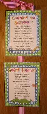 Grab these FREEBIE Hello/Goodbye poems! Could be fun to do something like this for entryway of home. 1st Day Of School, Beginning Of The School Year, School Fun, School Days, School Stuff, Classroom Setup, Kindergarten Classroom, Future Classroom, Hello Goodbye