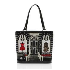 A dress shop on your bag! Love Lulu Guinness bags...they always make me smile. #handbag #luluguinness