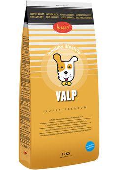 VALP  Pienso completo para cachorros en crecimiento o madres lactantes.    Husse Valp (Husse Cachorro) es un pienso completo super premium que cubre las necesidades extras de nutrición, minerales y vitaminas en los cachorros mientras su crecimiento, a menudo los cachorros necesitan el doble de energía y nutrientes que un perro adulto. Husse Valp es recomendado para cachorros a partir de la 4 semana hasta ser adultos. También es recomendado para perras embarazadas o lactantes.