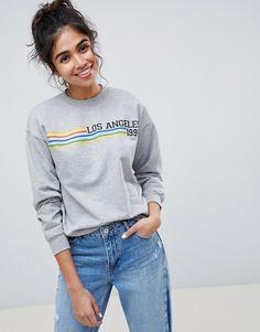 ASOS   ASOS DESIGN sweatshirt with L.A. print