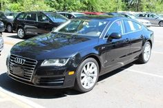 Used 2013 Audi A7 3.0T Premium quattro Drivetype:AWD Fuel Consumption: City: 18 mpg Fuel Consumption: Highway: 28 mpg Genuine wood door trim Heated driver mirror Heated passenger mirror Heated windshield washer jets In-Dash single CD player Intercooled Supercharger Leather seat upholstery Leather steering wheel trim Leather/chrome shift knob trim Manufacturer's 0-60mph acceleration time (seconds): 6.2 s Memorized Settings for 2 drivers Memorized Settings including door mirror(s) MP3 player…