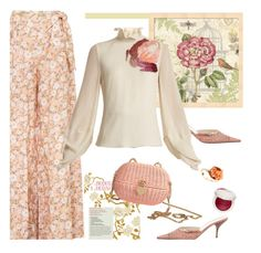 """""""Ruffle Trimmed~"""" by dianefantasy ❤ liked on Polyvore featuring Prada, Miguelina, Roksanda, Chanel, Too Faced Cosmetics, ruffles and RuffLyfe"""