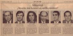 """Una de mis múltiples colaboraciones en la legendaria sección """"la encuesta"""" que durante años el periódico La Vanguardia (España) publicó diariamente.  En esta ocasión se me preguntó sobre el aliciente de los castillos catalanes para atraer más turismo."""