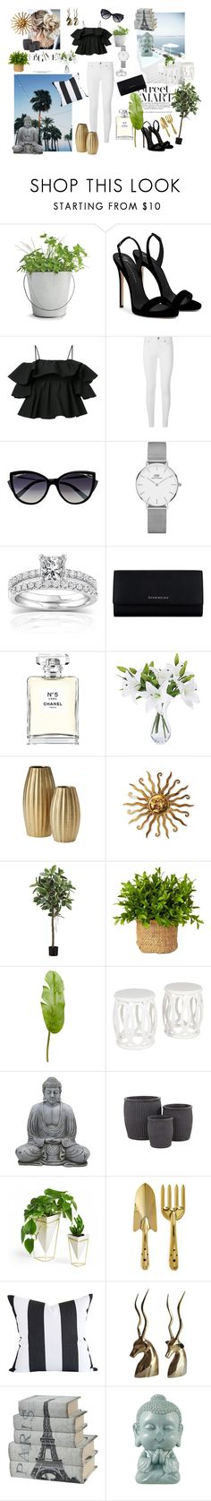 """Untitled #252"" by linneaha ❤ liked on Polyvore featuring Potting Shed Creations, Giuseppe Zanotti, MSGM, Burberry, La Perla, Daniel Wellington, Annello, Givenchy, Chanel and Pier 1 Imports"