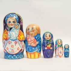 New Products. Matryoshka Family with Twins is a 5 pieces Russian nesting doll which is pai... http://russian-crafts.com/nesting-dolls/one-of-a-kind/nesting-doll-twins-clone.html