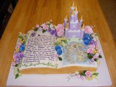 Fairy tale book cake