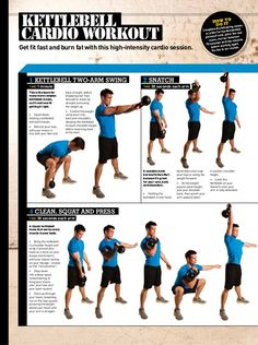 Kettlebell Workout Routines Fat burning <b>kettlebell</b> cardio <b>workout routine</b>