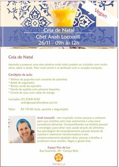 Alimentação Integrativa - Receitas para Viver Bem: CEIA DE NATAL - AULA DE CULINÁRIA VEGAN
