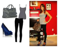 "What Am I Wearing?  Top: Mandees, Pants: Aeropostale, Shoes & Bag: ""Moxie"" and ""Bedford"" bag from Shoedazzle.com"