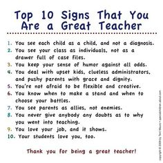 characteristics of a great teacher