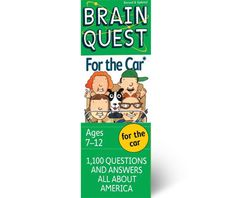 New Brain Quest for the Car and thousands more of the very best toys at Fat Brain Toys. New Brain Quest For the Car makes every trip - by car, bus, train, or plane - a learning adventure. 1,100 questions cover states, people, and events of America. From the O.K. Corral to Dr. Seuss, young minds will be going places.