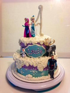 frozen purple aqua blue hombre girl birthday - www.facebook.com/blovestobake