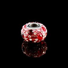 Berloque Steel Cristal Swarovski Vermelho