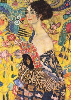 Yelpazeli Kadın 1000 pieces - Gold